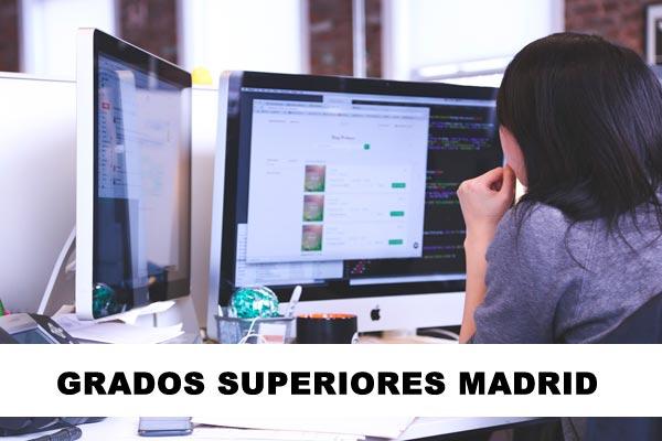 grados superiores Madrid